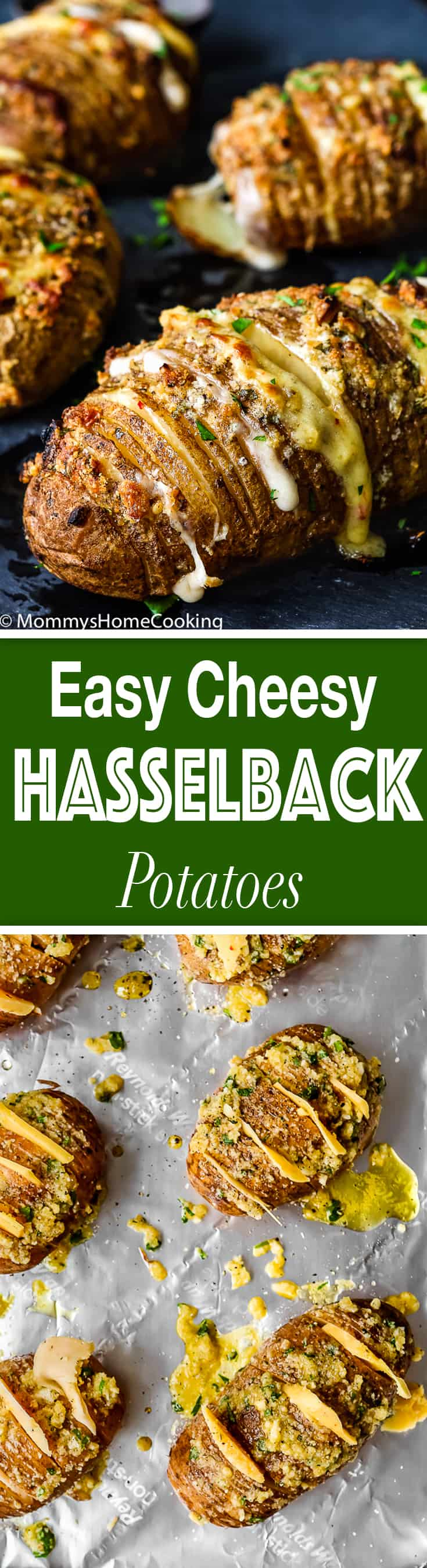 Easy Cheesy Garlic Hasselback Potatoes | Mommy's Home Cooking