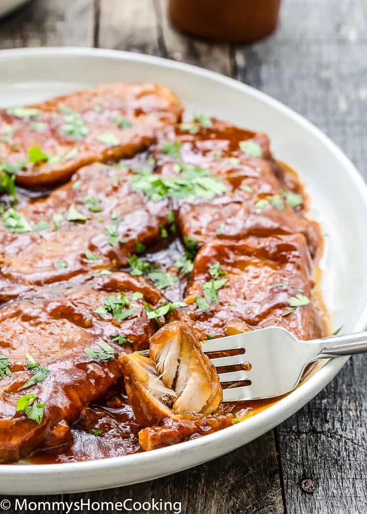 These Slow Cooker Honey Garlic Pork Chops couldn't get any easier, they're so delicious and tender, they simply melt in your mouth! You can guarantee this will be a dinner your whole family will love. https://mommyshomecooking.com