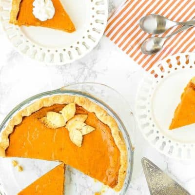 Easy Eggless Pumpkin Pie