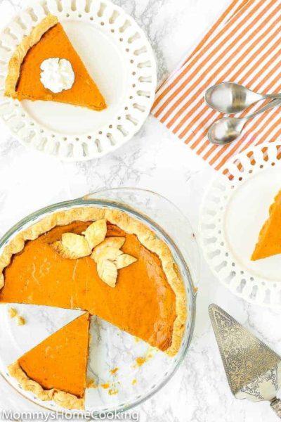 Easy Eggless Pumpkin Pie
