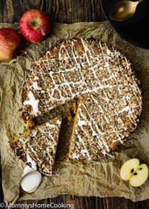 Eggless Apple Maple Spice Cake