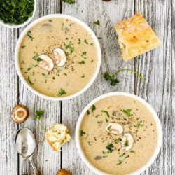 Mushroom Soup with Roasted Garlic and Marrow Bones | Mommy's Home Cooking
