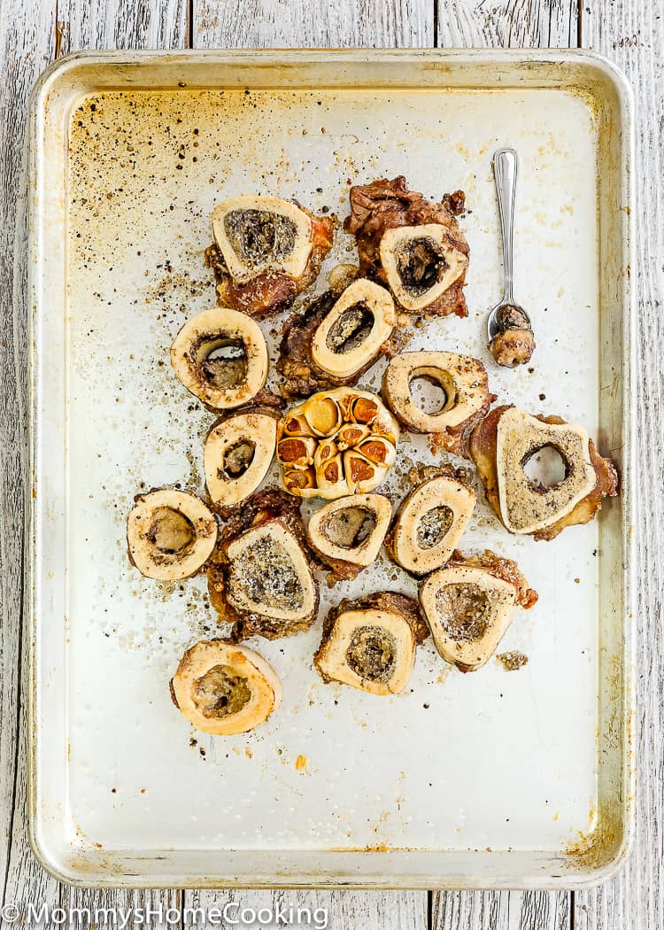 This Mushroom Soup with Roasted Garlic and Marrow Bones is worthy the front page of your kitchen adventure news. It's rich, hearty, creamy and OH-SO delicious! https://mommyshomecooking.com