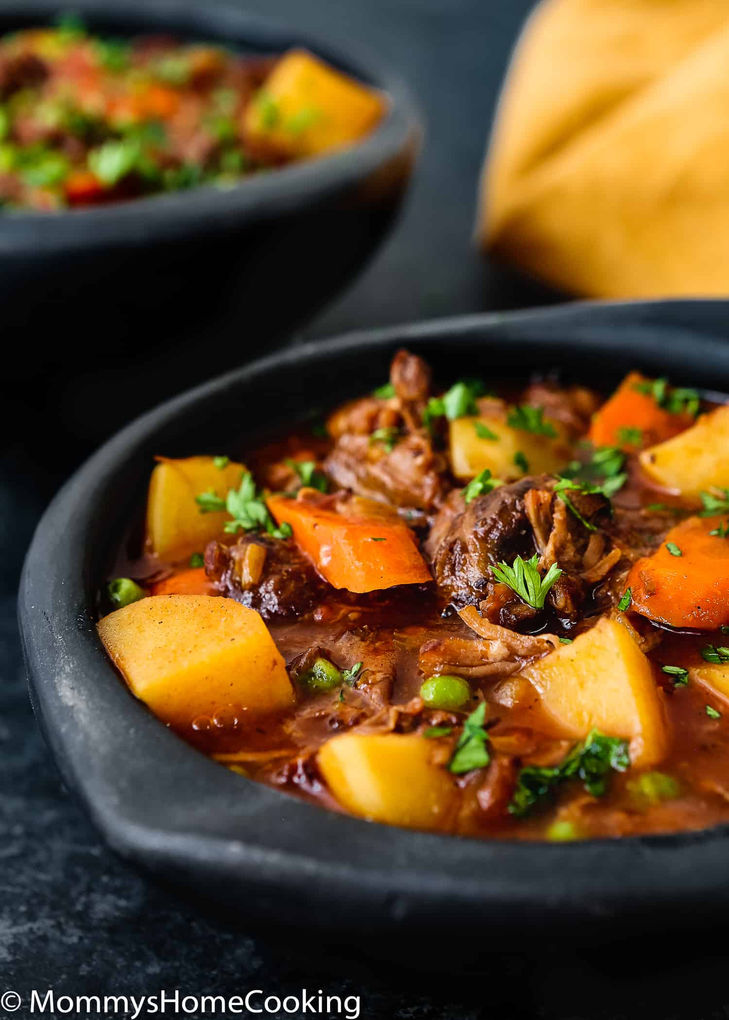 This Slow Cooker Oxtail Stew is hearty, mouthwatering and incredibly tender! Yes, Oxtail!! Are you intrigued? Keep reading to see how you can turn this underrated cut of meat in the most delicious beef stew ever. Melt-in-your-mouth beef loaded with potatoes, carrots, and peas, all smothered in an incredibly tasty stew broth, this Slow Cooker Oxtail Stew is a comforting, delicious meal any day of the week. https://mommyshomecooking.com