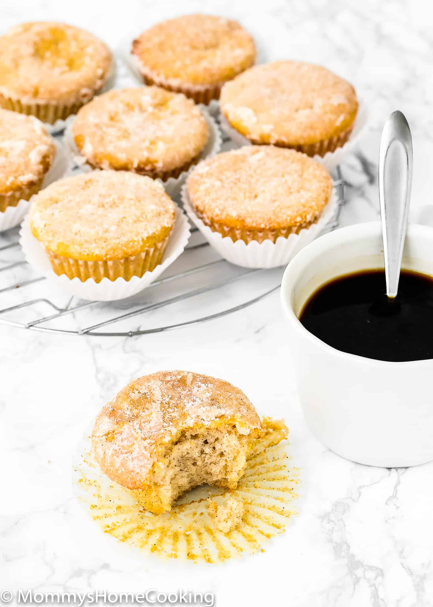 These Eggless Sugar Donut Muffins are soft and fluffy and moist! They're super easy to make and bake up in no time. Perfect for breakfast, brunch, snack, or even dessert. https://mommyshomecooking.com
