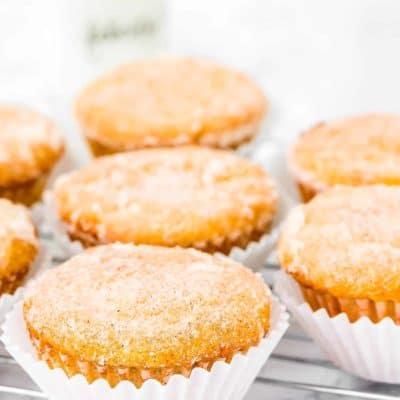 Eggless Sugar Donut Muffins