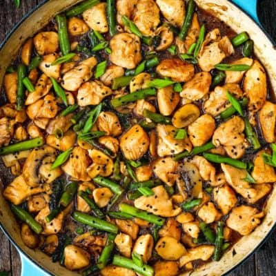 Easy Healthy Chicken and Asparagus Skillet | Mommy's Home Cooking