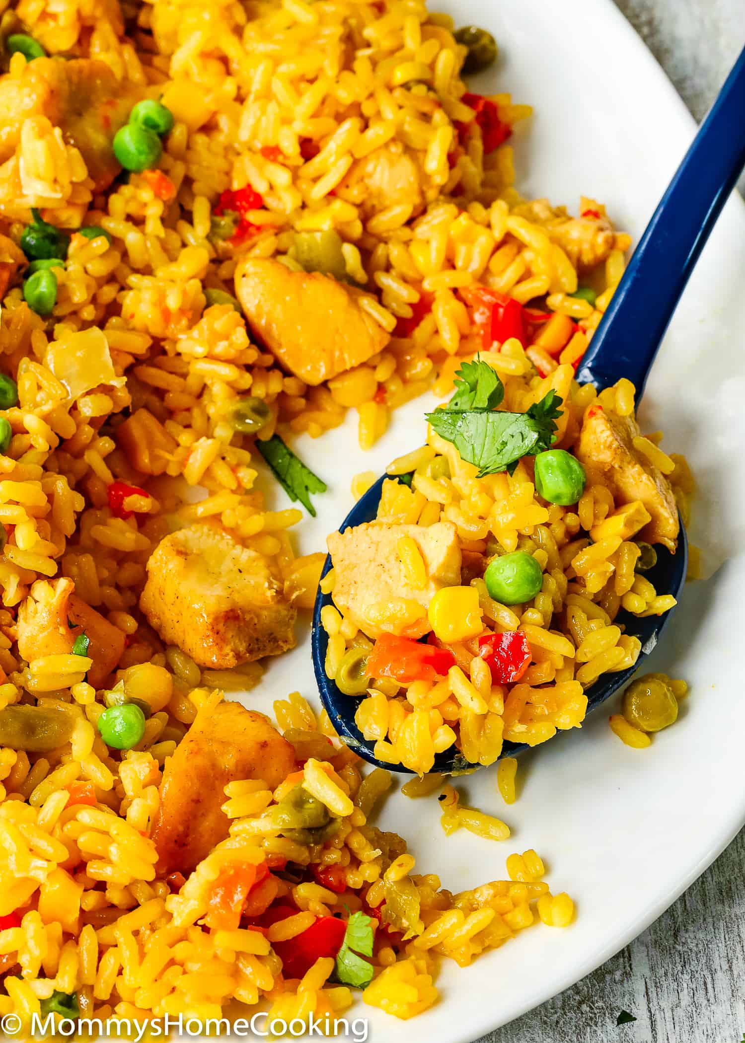 This Easy Instant Pot Arroz con Pollo recipe is ridiculously easy to make and unbelievably delicious! It has protein, vegetables, and grains cooked together in one pot in about 30 minutes. This one is definitely one to keep in your rotation. https://mommyshomecooking.com