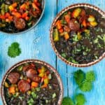 Instant Pot Black Beans with Chorizo   Mommy's Home Cooking