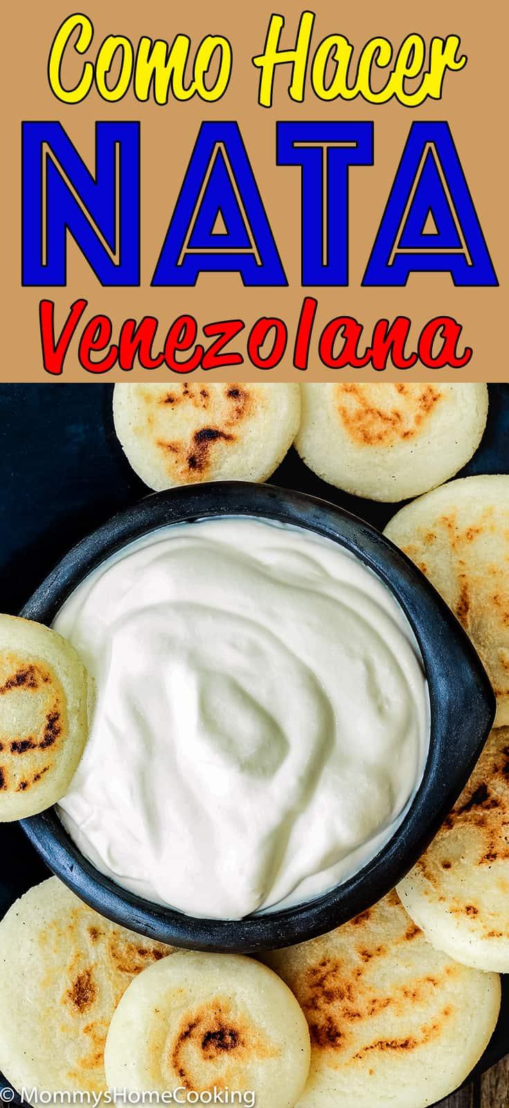 Esta nata venezolana casera es sabrosa y muy fácil de hacer; solo 3 ingredientes y estará lista en 15 minutos. Sírvela con arepas, cachacas o casabe. https://mommyshomecooking.com