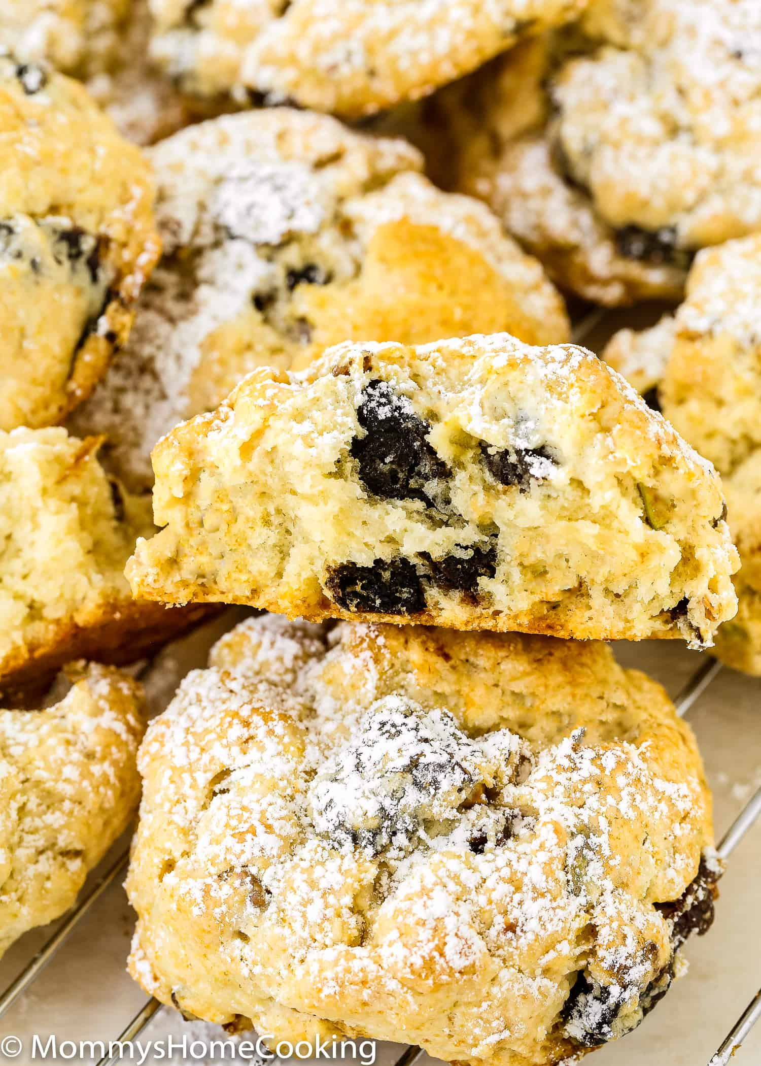 These Eggless Prune-Pistachio Scones are über buttery and flaky! Made from scratch with California prunes and pistachios, these scones make a delightful sweet treat for any occasion. They will be a big hit every time you make them. https://mommyshomecooking.com