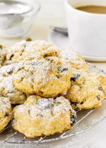 Eggless California Prune-Pistachio Scones