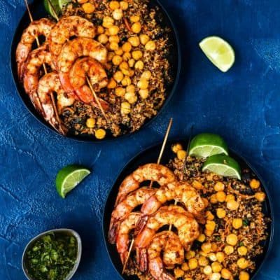 Moroccan Spiced Shrimp Skewers Meal Kit