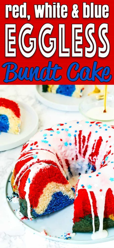 Red, White, and Blue Eggless Bundt Cake | Mommy's Home Cooking