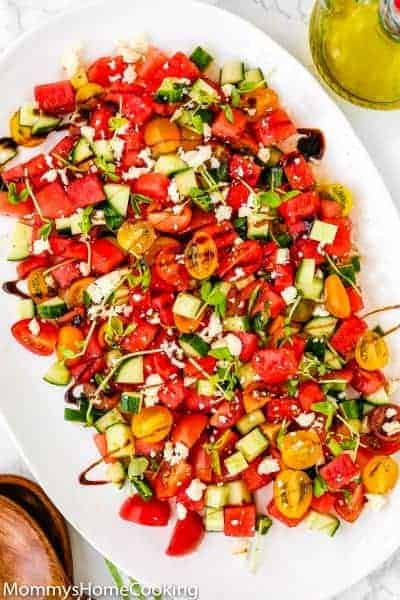 Easy Watermelon Summer Salad | Mommy's Home Cooking