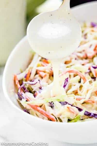 Easy Creamy Coleslaw | Mommy's Home Cooking