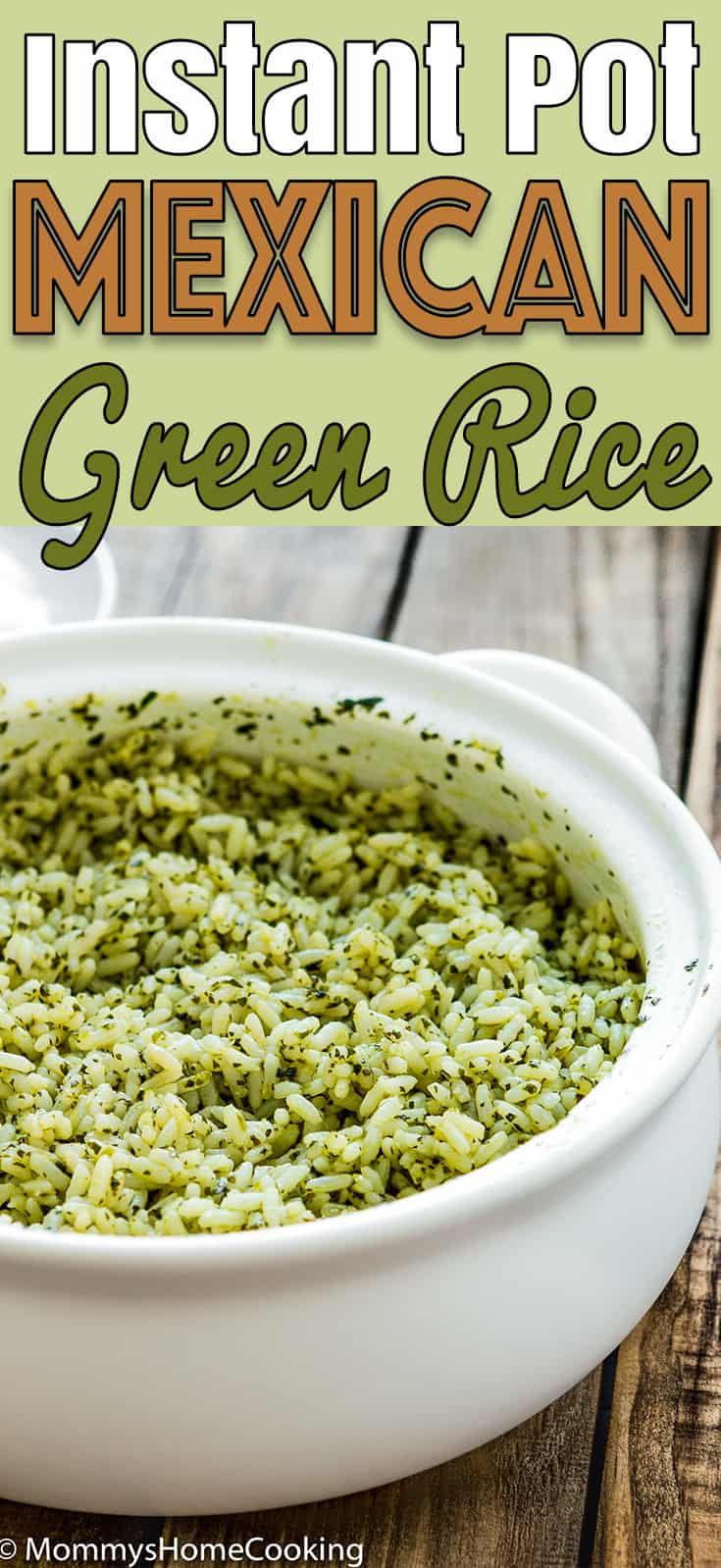 Easy Instant Pot Mexican Green Rice - #InstantPot #Rice #Recipe #SideDish #GreenRice #MexicanRice