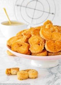 Easy Palmiers Recipe (Elephant Ear Cookies or Palmeritas) (Video)