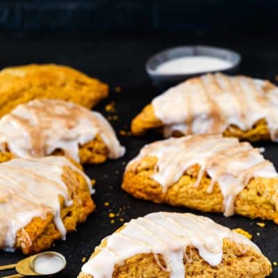 Eggless Pumpkin Chai Scones