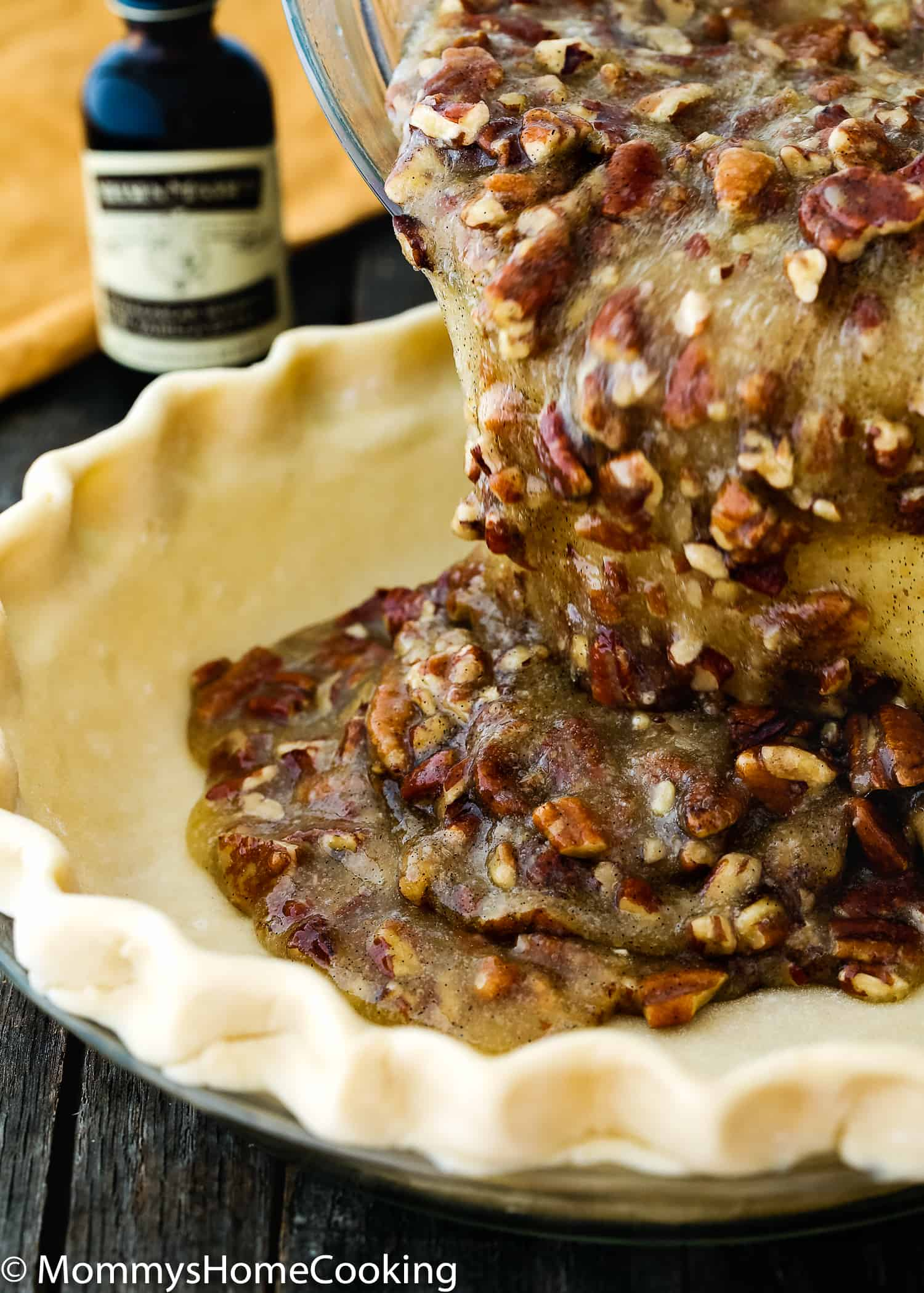 Easy Eggless Pecan Pie filling