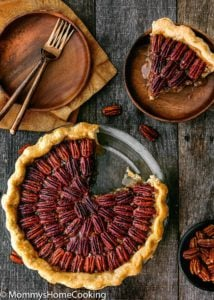 Easy Eggless Pecan Pie