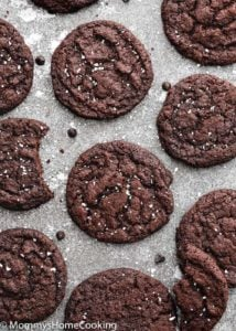 Eggless Dark Chocolate Cookies