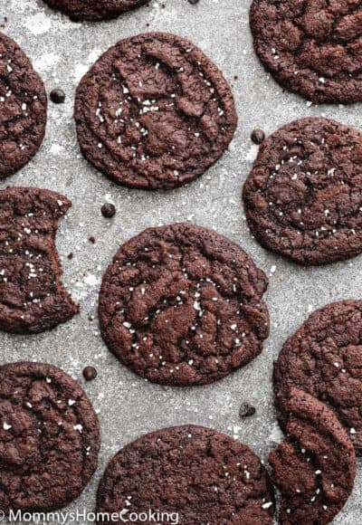Eggless Dark Chocolate Cookies | Mommy's Home Cooking