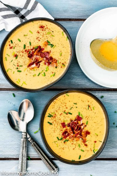 Instant Pot Smoky Cheese and Potato Soup | Mommy's Home Cooking