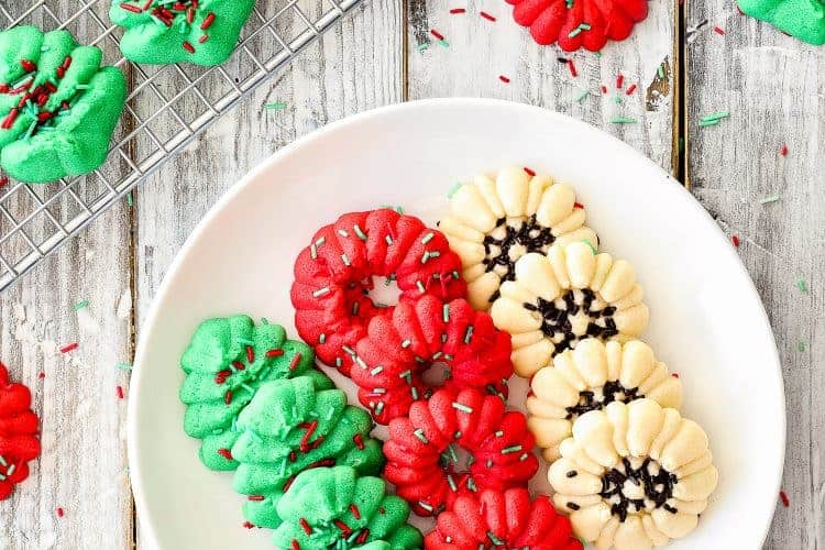 Easy Eggless Spritz Cookies | Mommy's Home Cooking