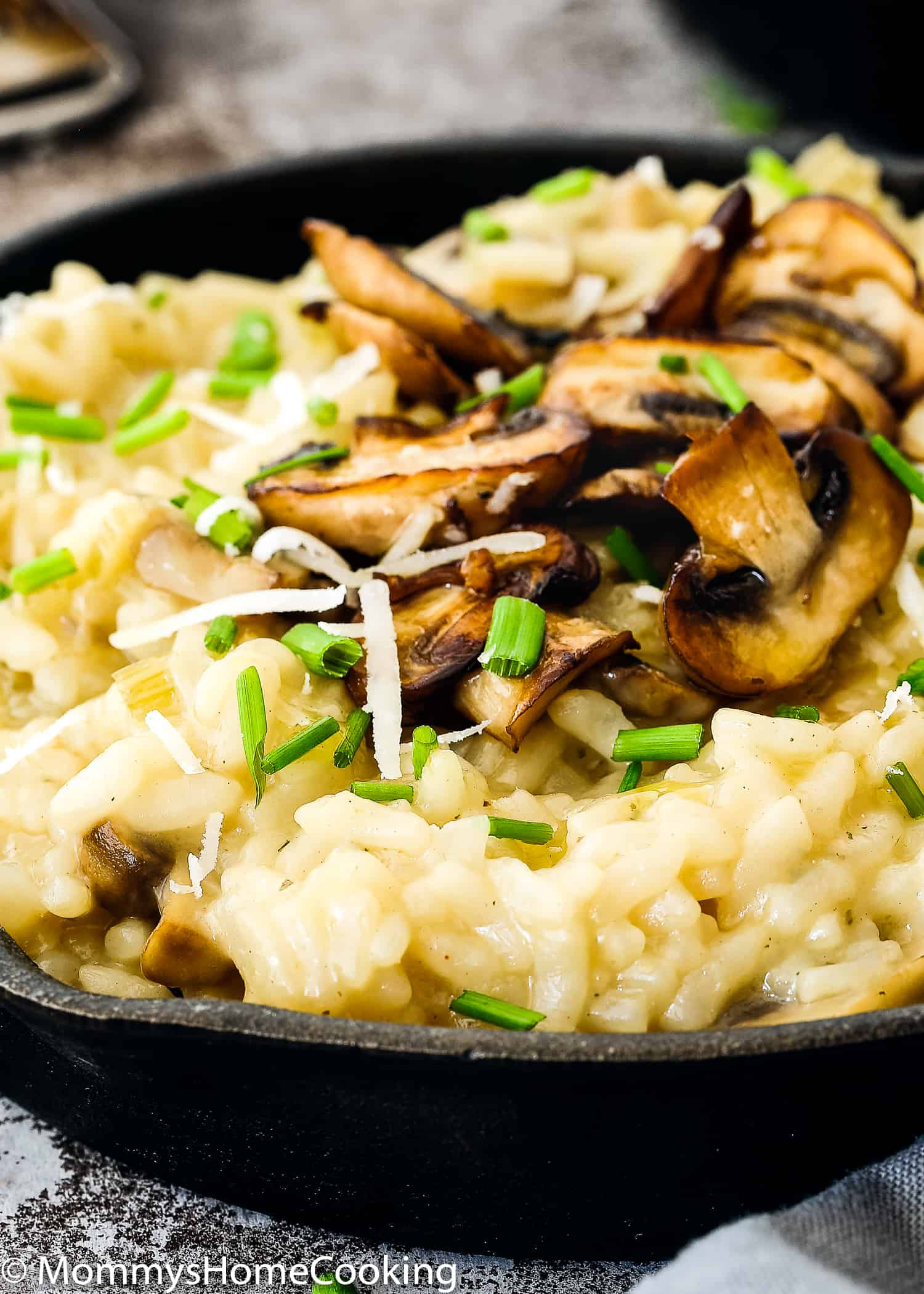 This Easy Pressure Cooker Mushroom Risotto recipe is quick, easy and hassle-free. Perfectly creamy and silky, this rice can be served as a luscious side or unique main dish. https://mommyshomecooking.com