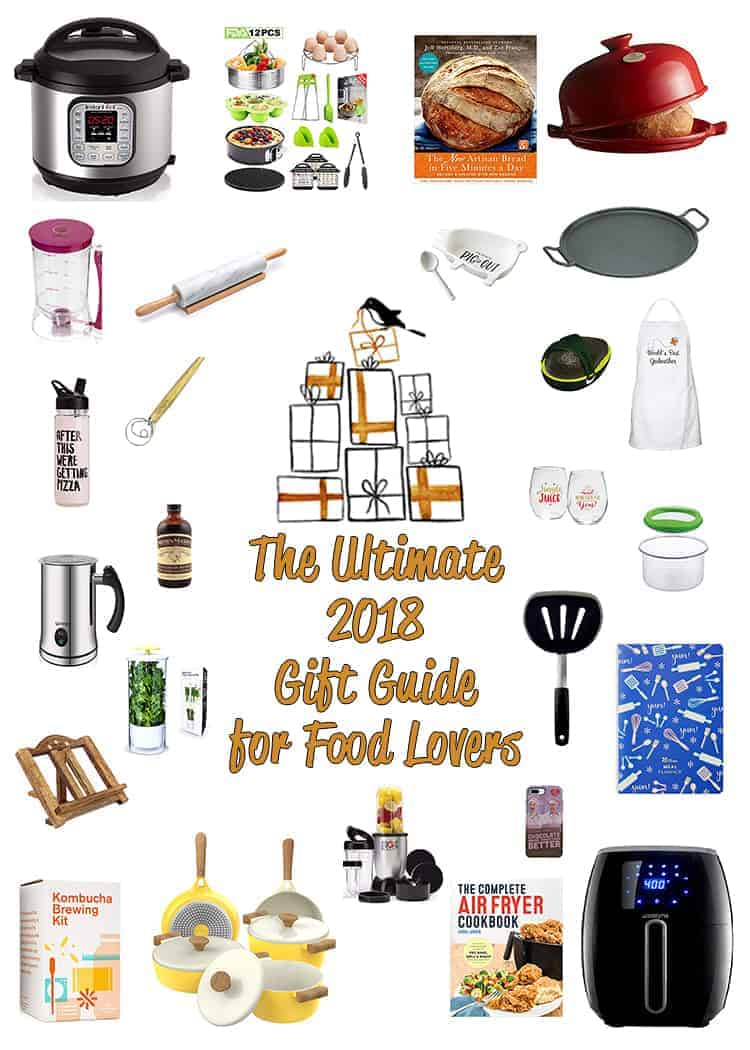 The Ultimate 2018 Gift Guide for Food Lovers has a gift idea for every food lover on your list! From kitchen essentials to fun gifts, get going with 45 handpicked presents for every price and interest. https://mommyshomecooking.com