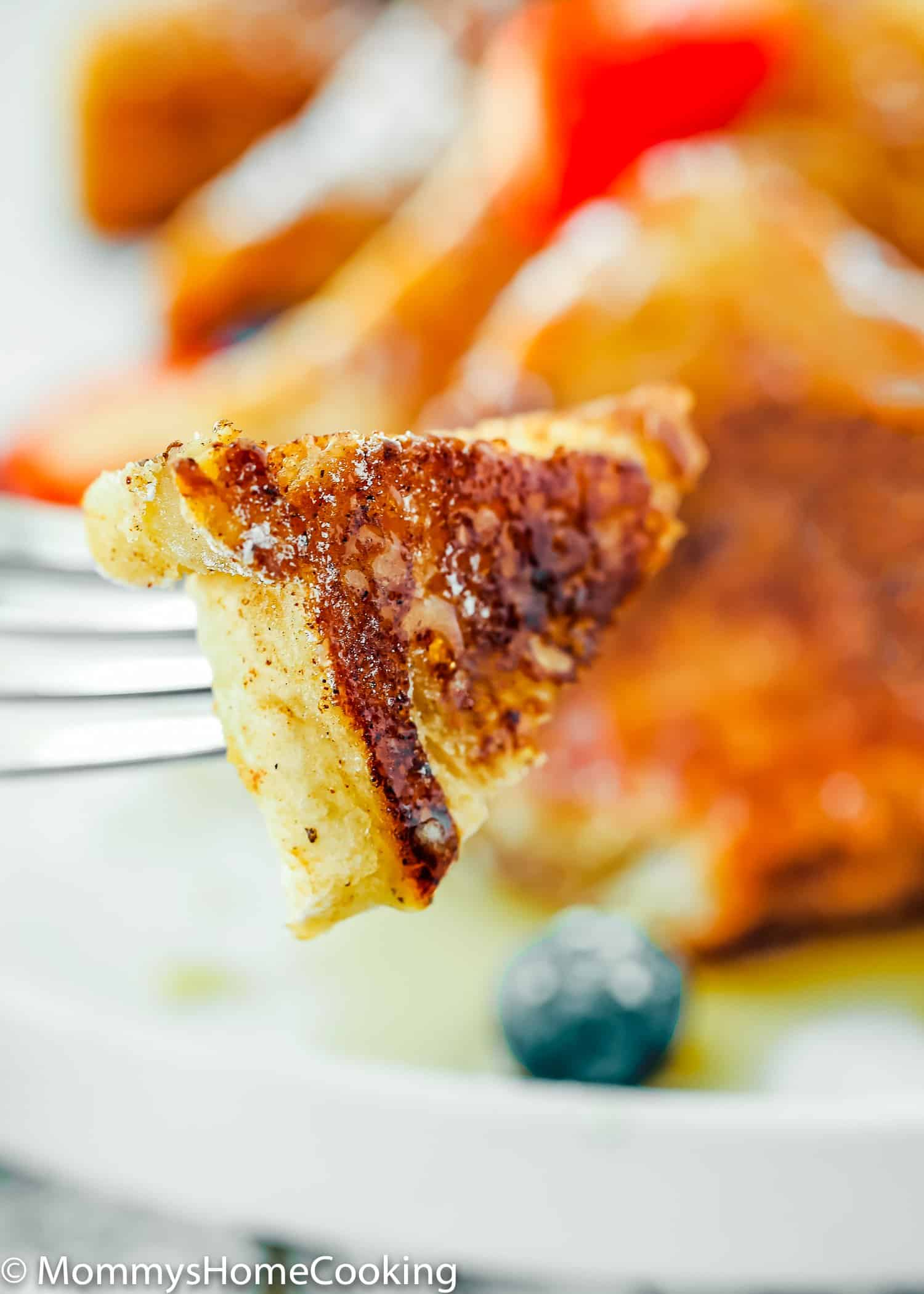 Learn how to make French toast without eggs! This easy French toast recipe produces the absolute BEST Eggless French Toast! They're fluffy in the inside and lightly crisp and golden on the outside. Just Perfection! https://mommyhsomecooking.com
