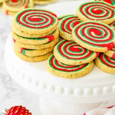 Eggless Icebox Christmas Pinwheel Cookies
