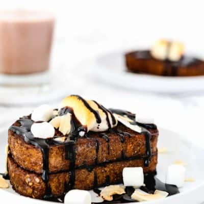 Easy Eggless Chocolate French Toast