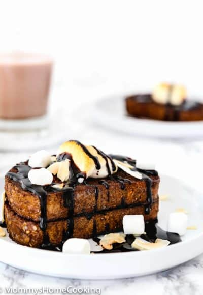 Easy Eggless Chocolate French Toast | Mommy's Home Cooking