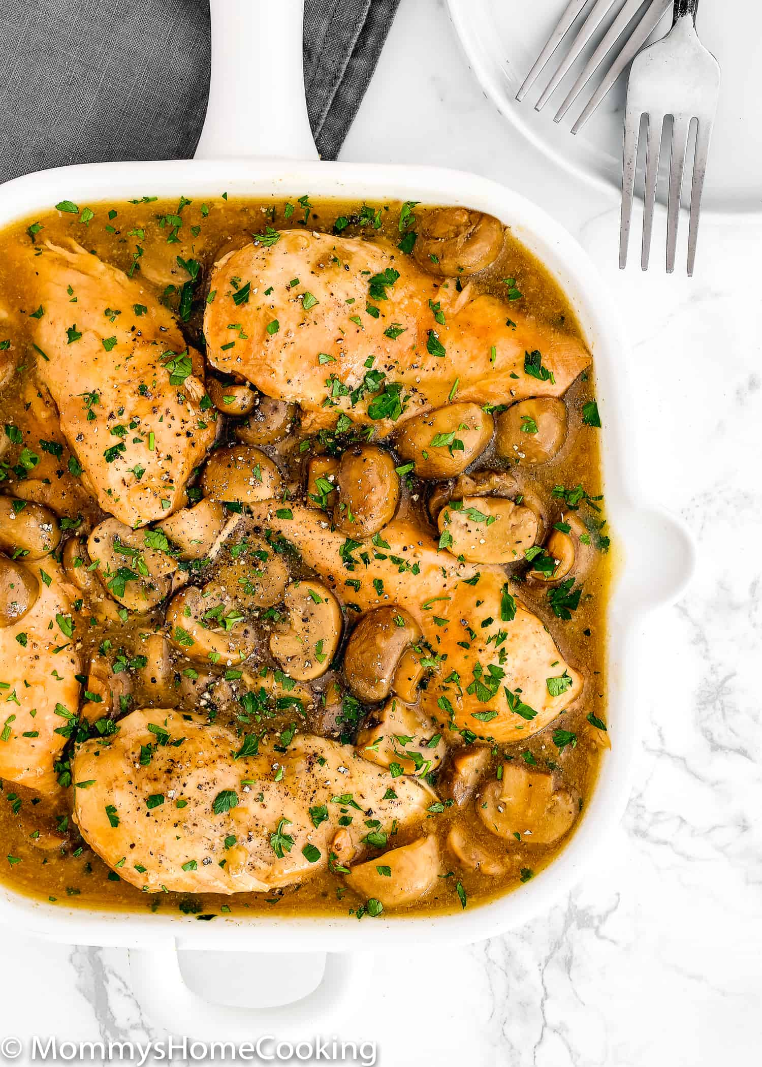 This Easy Instant Pot Chicken Madeira recipe always gets rave reviews at the dinner table!  Easy to make on busy weeknights but yet fancy to serve guests. I am sure it will become a new favorite for your family. https://mommyshomecooking.com
