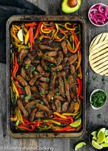 Easy Sheet Pan Beef Fajitas | Mommy's Home Cooking