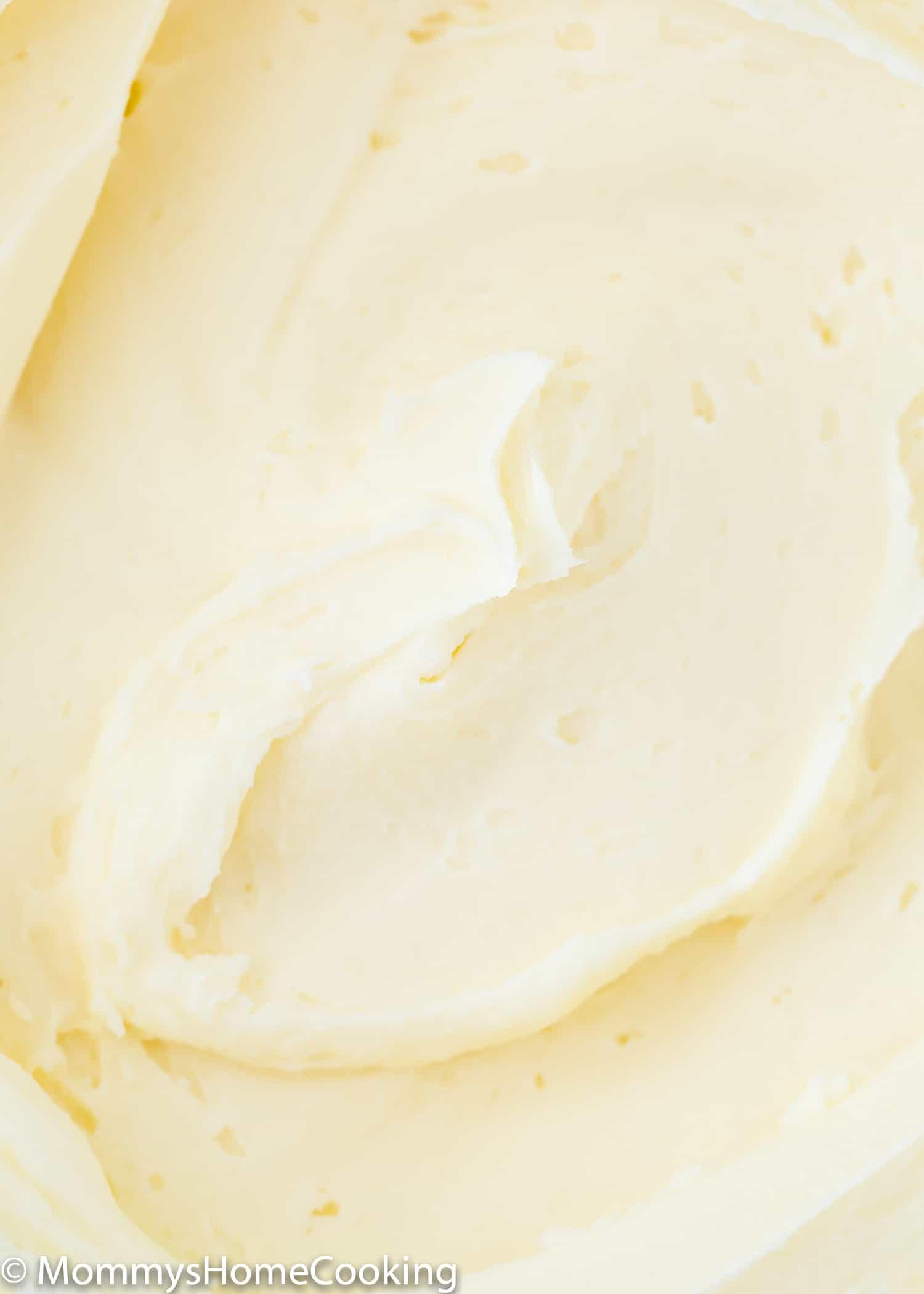 Vanilla buttercream frosting close-up