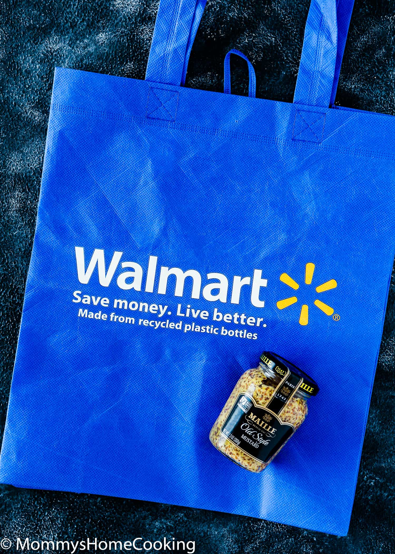 Walmart bag and mustard Maille