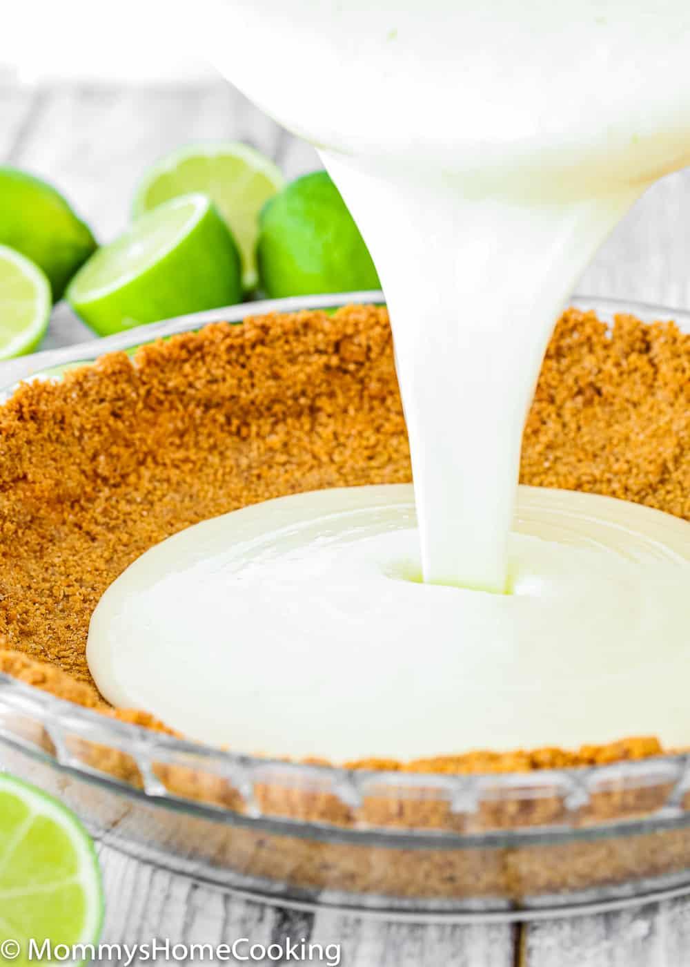 how to make eggless key lime pie photo