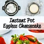 Instant Pot Eggless Cheesecake step by step photos