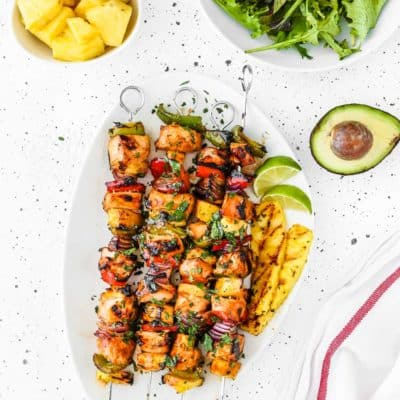 Easy Grilled Hawaiian Chicken Skewers