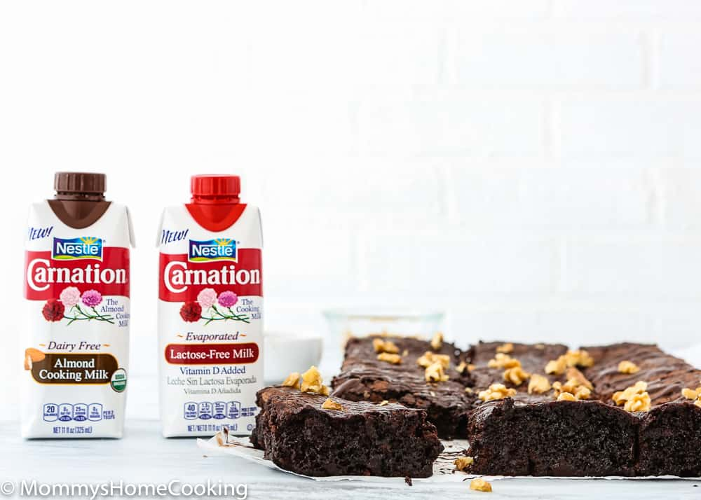 eggless fudgy zucchini brownies with carnation evaporated milk