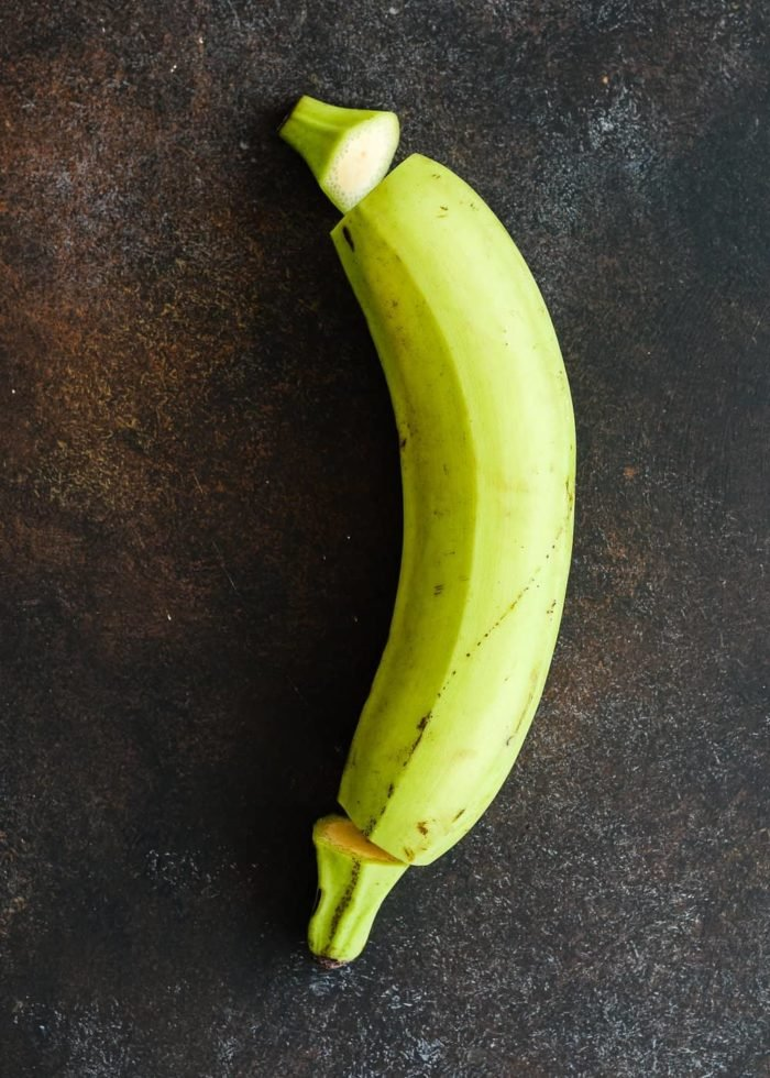 how to peel a green plantain