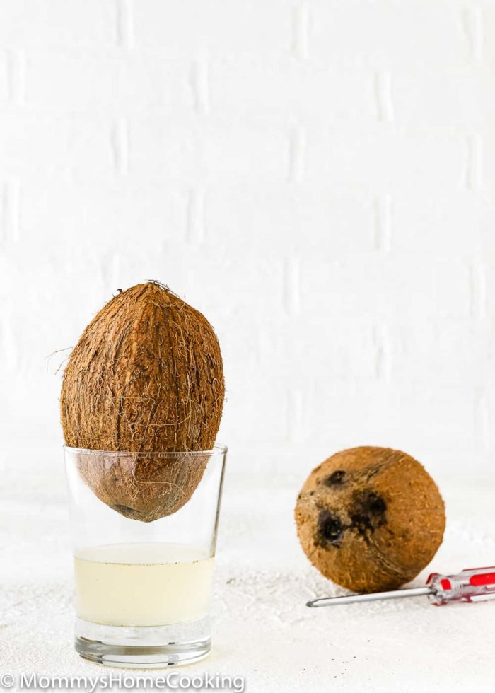 How to crack open a coconut step 2