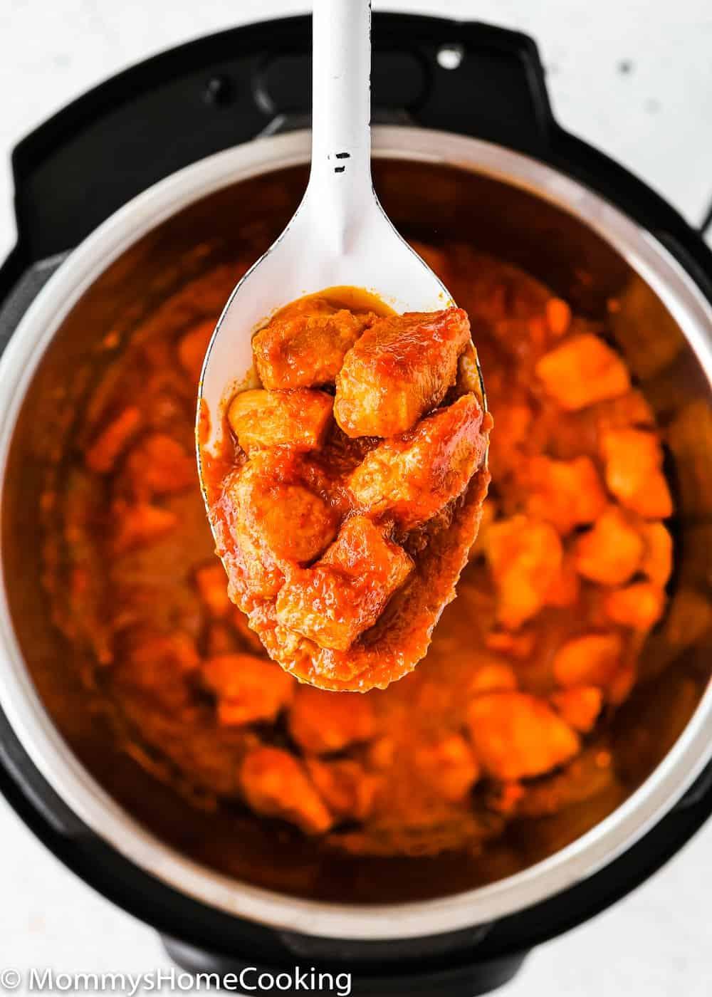 Easy Korean kimchi chicken in an Instant pot