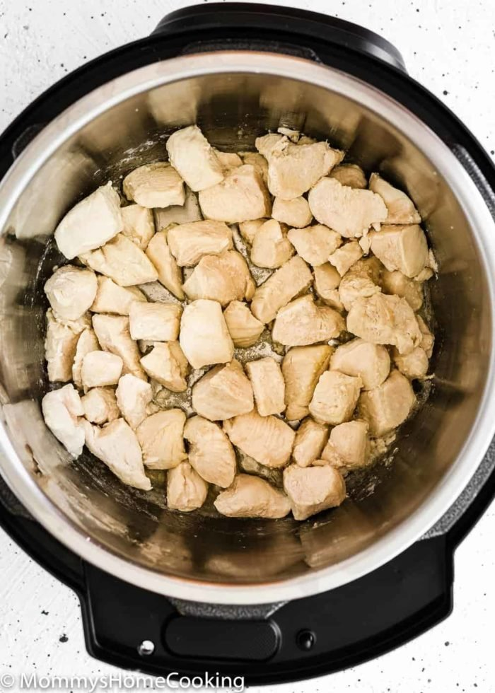 diced chicken breast in an Instant pot