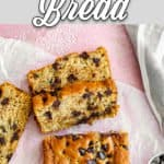 Best Easy to make eggless zucchini bread sliced with descriptive text