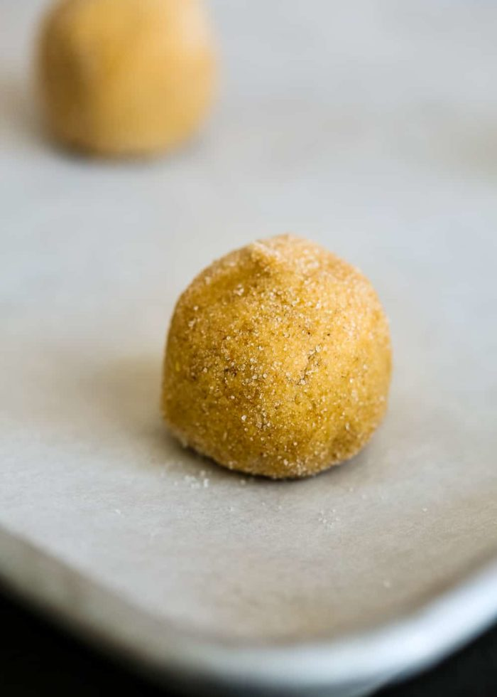how to roll a Eggless Snickerdoodles Dough into a ball