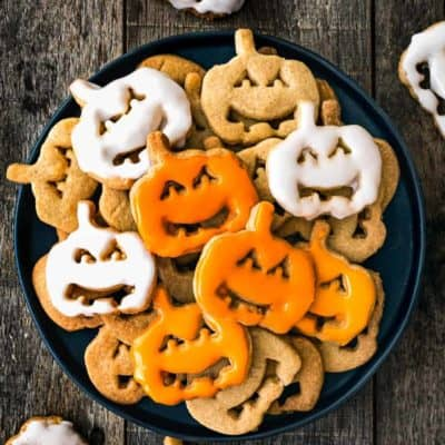 Easy Eggless Halloween Cookies